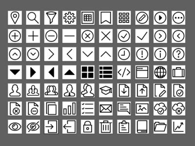Icon Set ui adobe illustrator icon