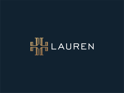 L logo design letter logo feminine fancy gold elegant luxury fashion