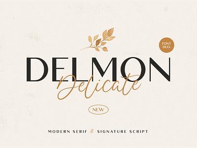 Delmon Delicate stylish gold glamour feminine fashion classy brush wedding beauty handwritten handwriting lettering display fancy elegant sans serif sans script font