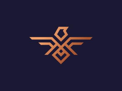 Falcon logo design concept