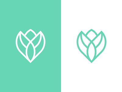 Rose Logo Design Concept yoga luxury elegant clean feminine font spa green boutique fashion blog rose logo feminine nature flower rose