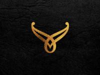 V luxury logo design concept