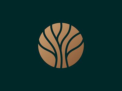 Tree logo fancy font nature fashion gold luxury elegant vector logodesign tree logo tree