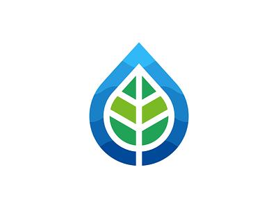 Leaf + Water fashion vector logo design leaves green blue yoga spa healthcare healthy wellness botanic elegant nature leaf