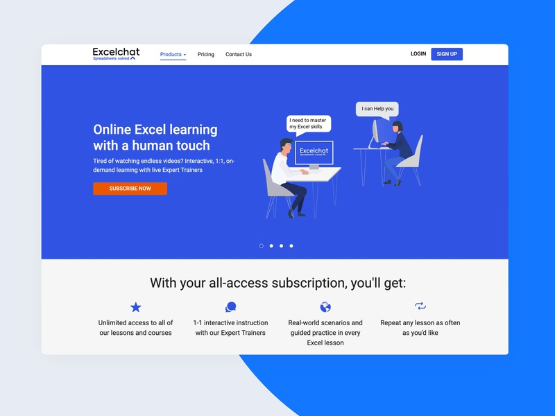 Excelchat Learning by Jessika Gouveia on Dribbble