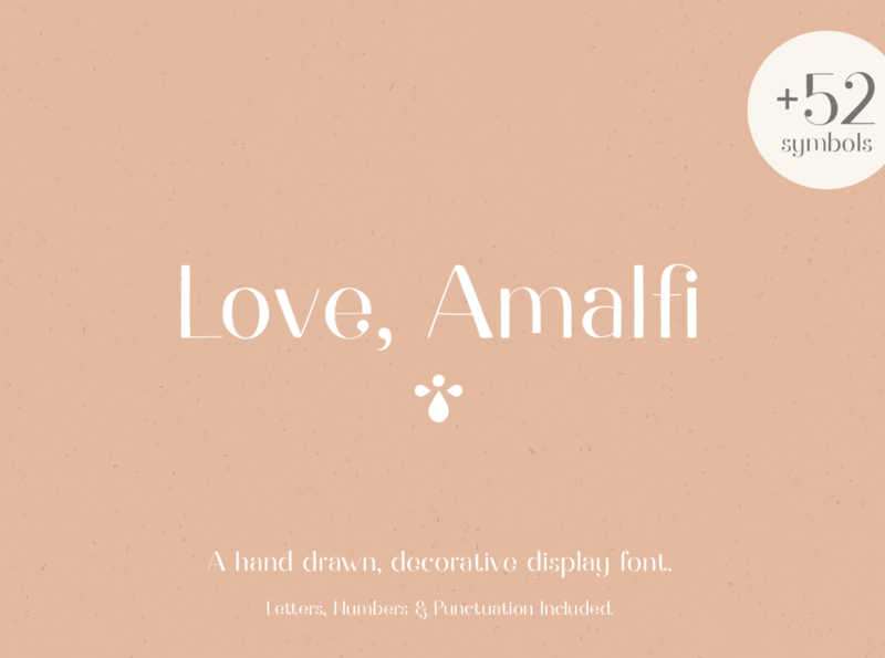 Love Amalfi Display Font type lettering font designer font design branding graphicdesign vector design creative market