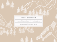 Forest & Mountain Vector Illustrations