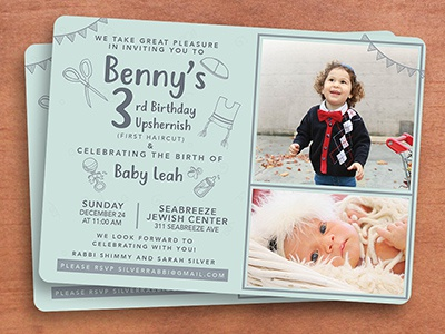 3rd birthday invite by mushka hecht dribbble dribbble