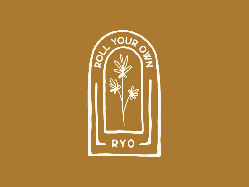 RYO – Badge Design vector illustration plant cannabis design cannabis logo logo brand identity branding