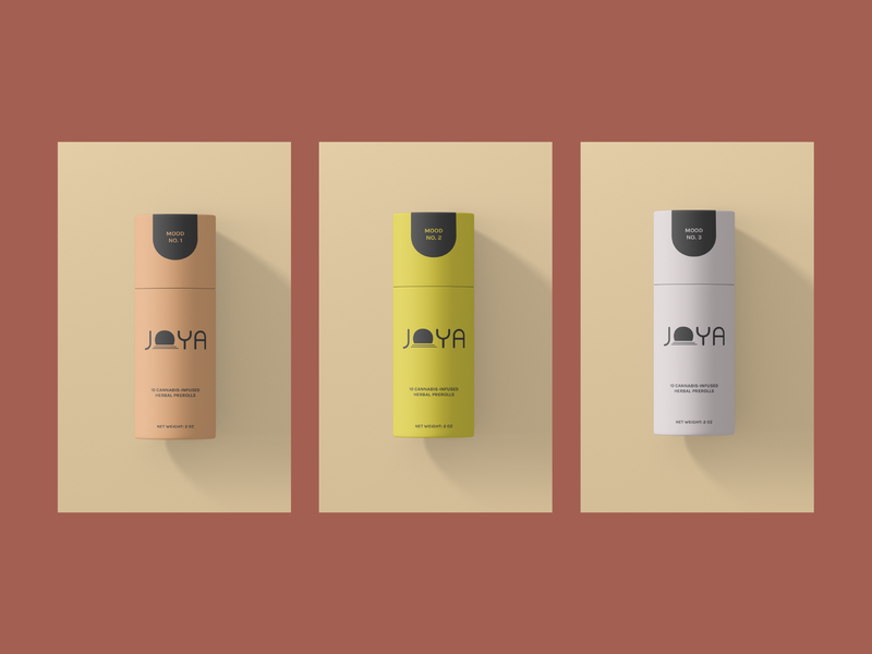 Joya Packaging crystals medicine plant based plant cannabis packaging graphic design brand identity packaging preroll cannabis cannabis design branding tube paper