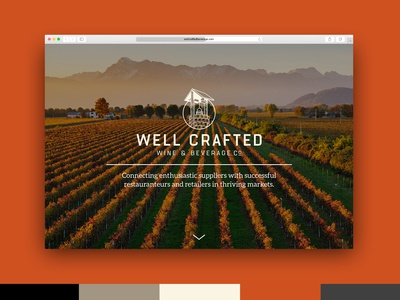 Well Crafted Beverage Website Design