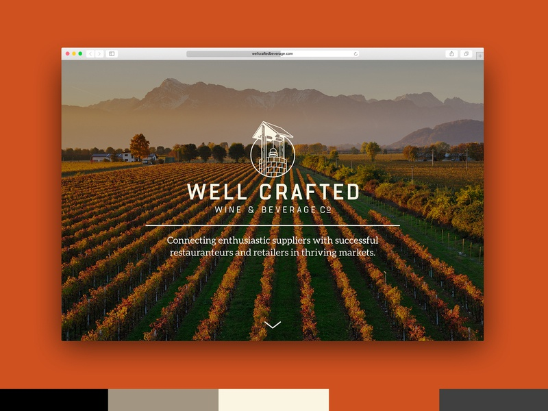 Well Crafted Beverage Website Design vector international distribution ux strategy ui brand identity webdesign branding beverage wine