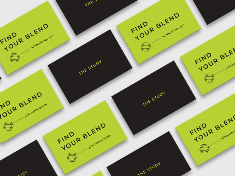 The Study Business Cards graphic design the study business cards cannabis logo design logo cannabis design brand identity branding