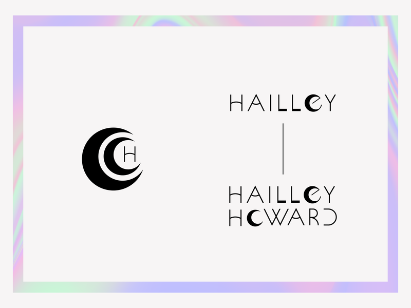 Hailley Howard Branding – Part 1 custom type minimalist design black and white minimalism photography photography branding wordmark logo logotype moon photography logo logo brand identity branding