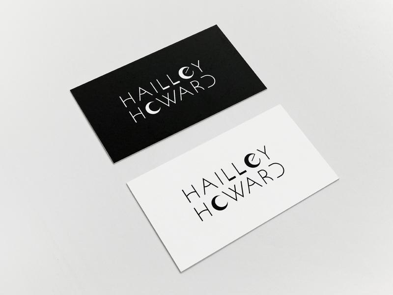 Hailley Howard Branding – Part 2 custom type branding vector black white minimalism photography branding photography logo photography logotype moon business cards logo logo design