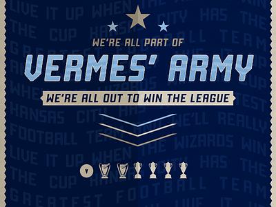 Vermes' Army Chant Artwork league army mls sports illustration sporting kc lettering kansas city soccer