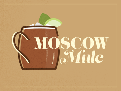 Moscow Mule illustration mixed alchohol mule moscow moscow mule drink
