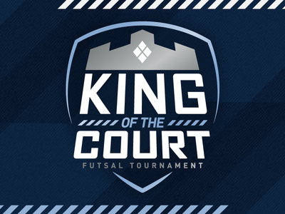 King of the Courts king of the court skc kc kansas city sporting kansas city sporting kc sports logo crown soccer tournament futsal court king