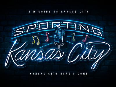 Kansas City Jazz 18th  vine 18th and vine microphone music notes sign lettering lights neon music soccer sporting kansas city sporting kc sporting kc kansas city jazz