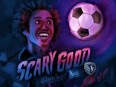 Scary Good mls vampire soccer ball scary soccer halloween