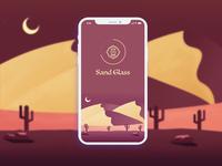 Splash Screen Concept - Sand Glass