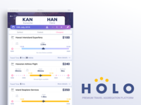 Holo - Travel Aggregator Concept