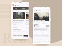 Readr. - Simple Blog App