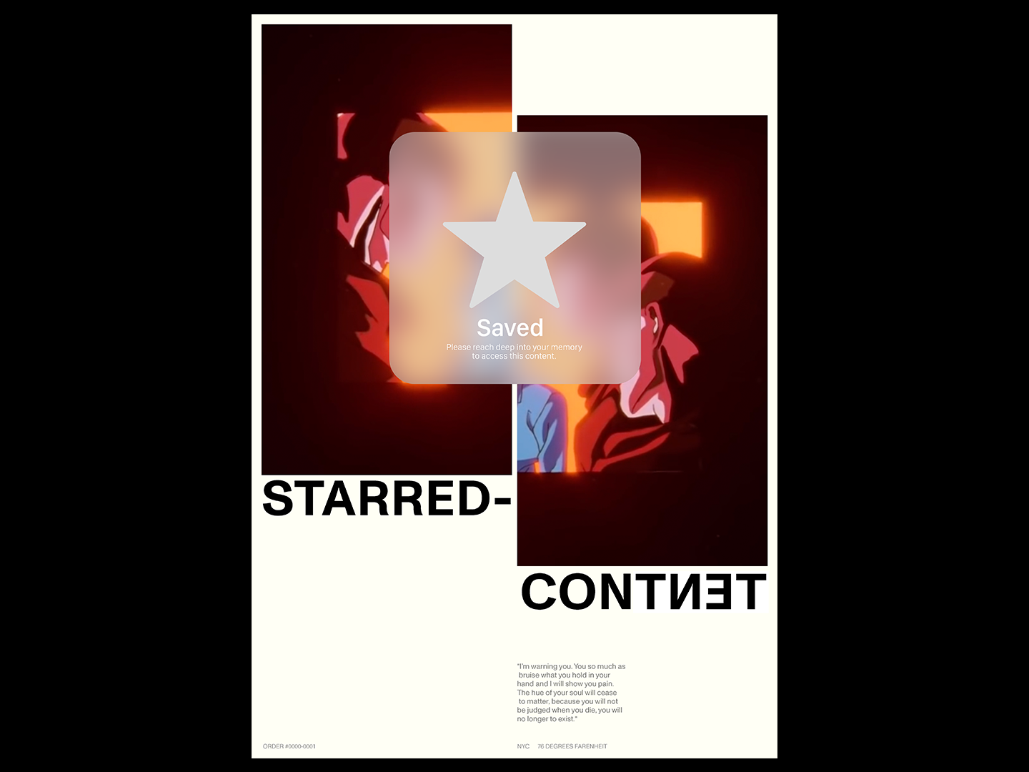 YUYU CONTENT design editorial type poster ui
