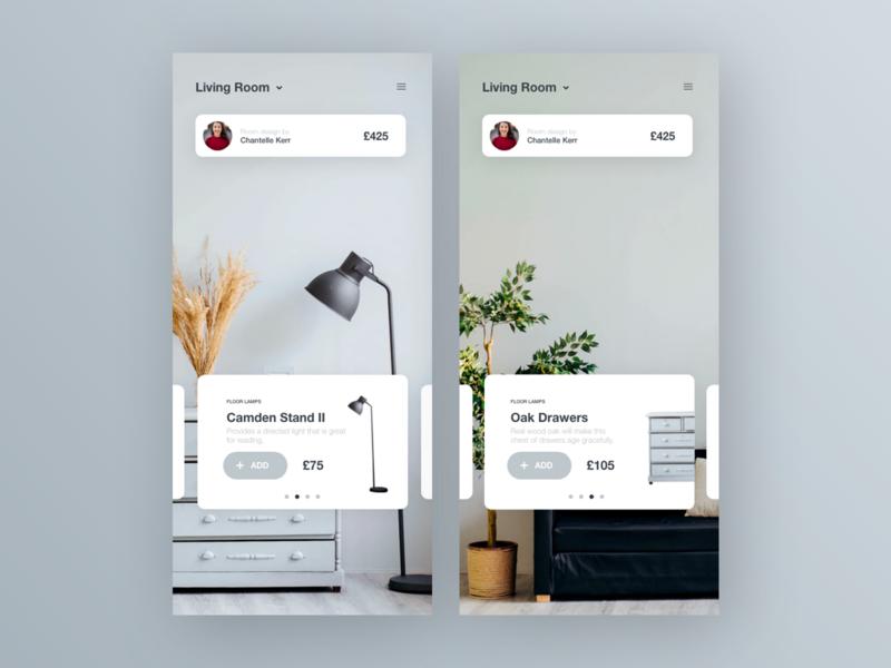Interior Design App interior dribbble app ux art ui uidesign interface interaction design dailyui