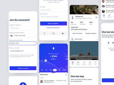 Influencer - Mobile App product page production product design product management ui ux ux designer product designer product minimal illustration crypto wallet animation freelance crypto mobile ios fintech iot