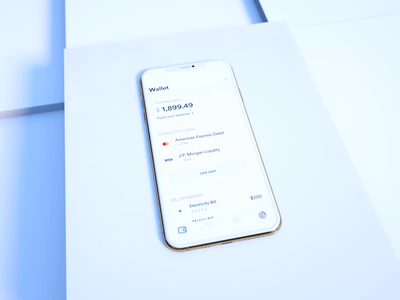 Wallet And Card Information - Fintech App studio product mobile iphone ios shopify minimal iot insurance financial app cryptocurrency bitcoin crypto bank app bank medtech insurtech fintech product design typography