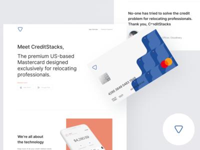 CreditStacks - Fintech Website and Credit Card