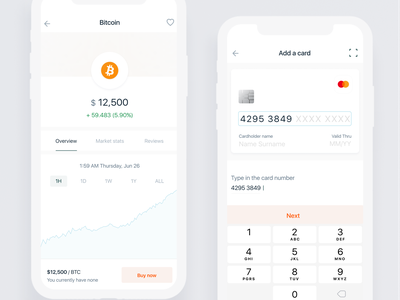 Crypto Wallet - Fintech Application financial app bitcoins iphone ios applications revolut minimal iot wallet app application financial wallet bitcoin services fintech bitcoin wallet bitcoin crypto exchange cryptocurrency crypto wallet crypto