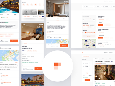 Hotel Booking - Mobile Application and Web Service crypto animation mobile fintech ios iot homepage luxury freelancer real project branding mobile app web app realestate hotel app hotel booking bnb holiday travelling hotel