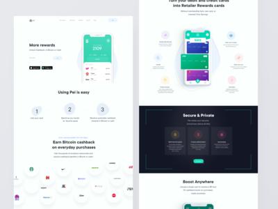 Pei App - Fintech Cashback Website