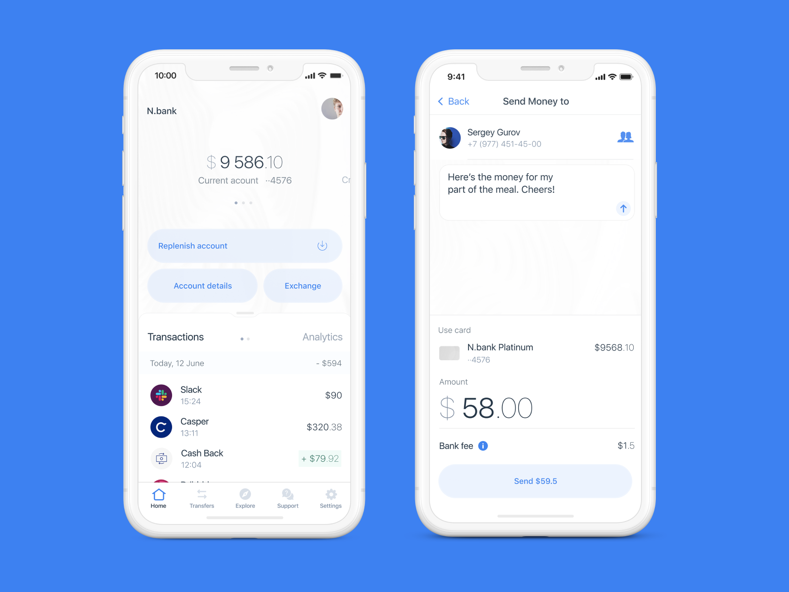 Bank Application - Mobile Concept by Artem Buryak for Hiwow