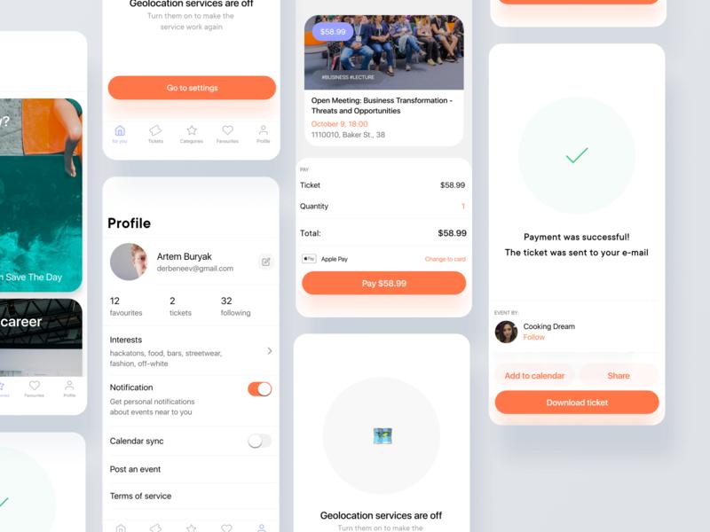 Save The Day - Mobile Application insurtech medtech real estate booking events bitcoin financial minimal freelance crypto animation mobile ios fintech iot