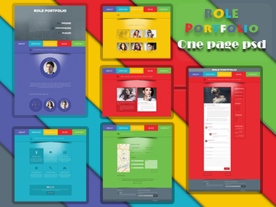 Role one page psd template