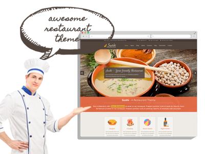 Sushi - Restaurant Responsive WordPress Theme