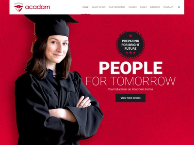 Acadam – University WordPress Theme wordpresstheme educationwebpage htmlwebsite responsive website educationtheme