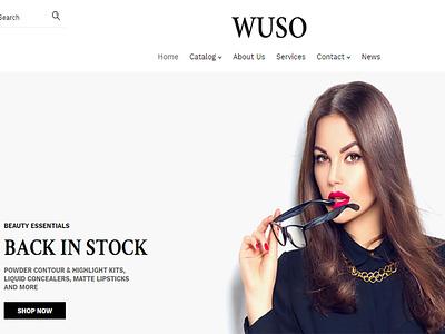 Wuso - Fashion Responsive Shopify Theme theme ecommerce web design wordpress responsive