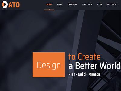 ATO – Construction WordPress Theme web design design theme wordpress responsive