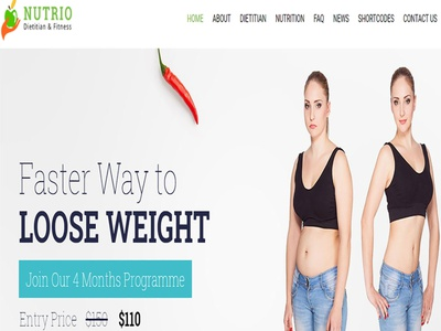 Nutrio – Health WordPress Theme theme ecommerce web design wordpress responsive
