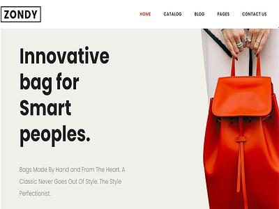 Zondy - Minimal Shopify Theme theme ecommerce web design wordpress responsive