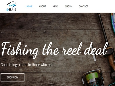 eBait - Hunting, Fishing Shop Shopify Theme theme ecommerce web design wordpress responsive