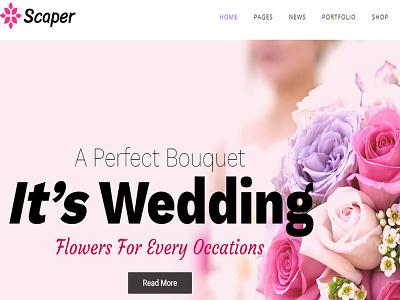 Scaper – Flower Shop WordPress Theme web design theme ecommerce wordpress responsive