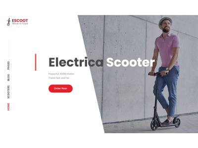 EScoot - Single Product WooCommerce Theme electrica scooter woocommerce responsive design theme singleproduct