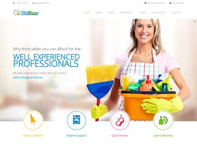 We Clean - Cleaning Company WordPress Theme ecommerce theme wordpress responsive maintenance plumbing cleaning
