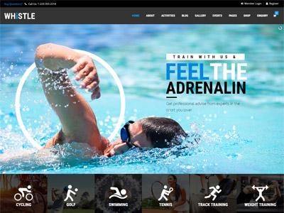 Whistle Sport - Sports Club, Gym Theme fitness ecommerce theme wordpress gym health yoga sport