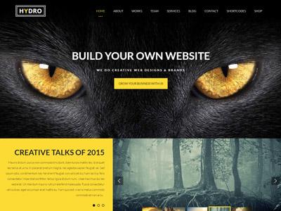 One Page Multipurpose WordPress Theme - HYDRO ecommerce responsive theme wordpress portfolio business creative one page